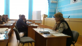 12 апреля эксперты ДВНЦМС провели первый семинар по программе «Вовлечение населения в предпринимательскую деятельность по решению вопросов местного значения» в Вяземском муниципальном районе